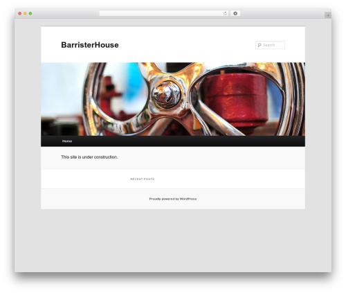 Twenty Eleven free WordPress theme - barristerhouse.net