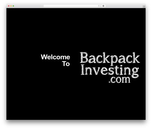 WordPress x-email-mailchimp plugin - backpackinvesting.com
