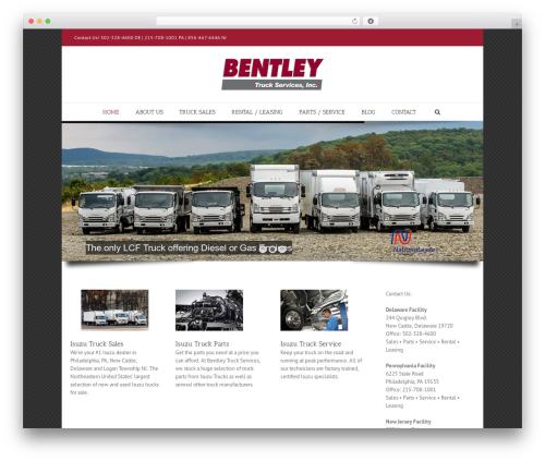 Avada theme WordPress - bentleyisuzu.com