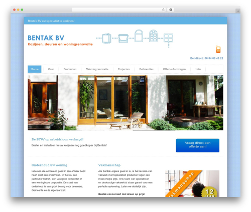 Bentak WordPress theme - bentak.nl