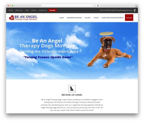 Best WordPress template Pet Care - beanangeltherapydogs.org