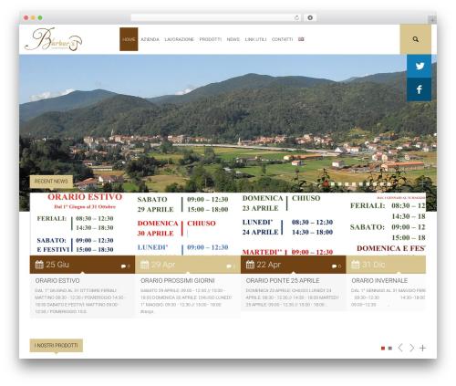 Environmental WordPress theme design - barberisfunghi.com/it