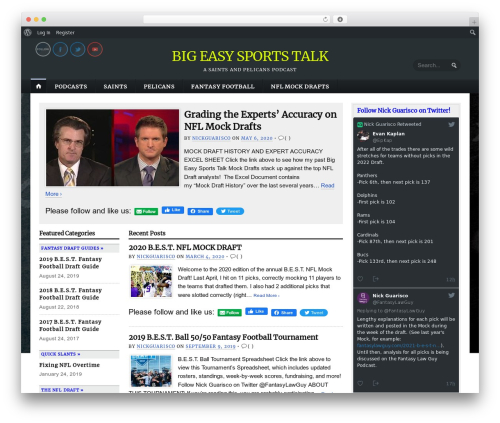 Opti theme WordPress - bigeasysportstalk.com