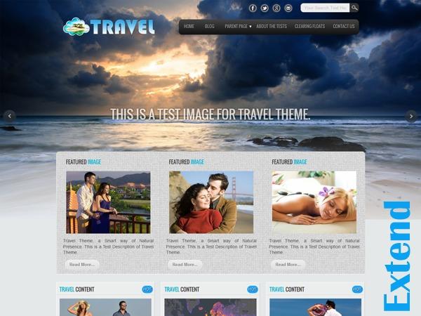 Travel Extend best hotel WordPress theme