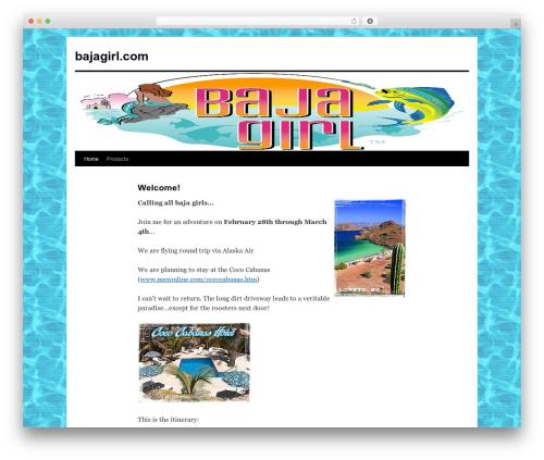 Twenty Ten template WordPress - bajagirl.com