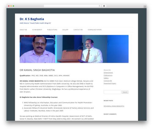 Twenty Twelve best free WordPress theme - baghotia.com