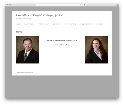 Twenty Twelve free WordPress theme - baldwincountylaw.com