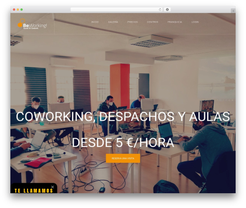 WordPress template CoWorking - be-working.com