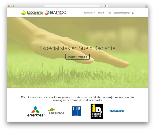 WordPress template Divi - banicospain.es