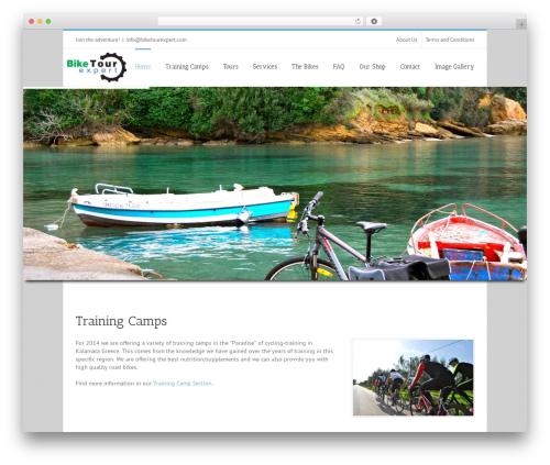 WordPress theme Avada - biketourexpert.com