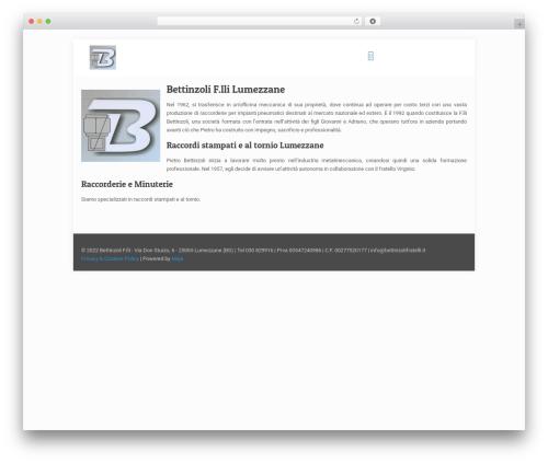 WordPress theme Betheme - bettinzolifratelli.it