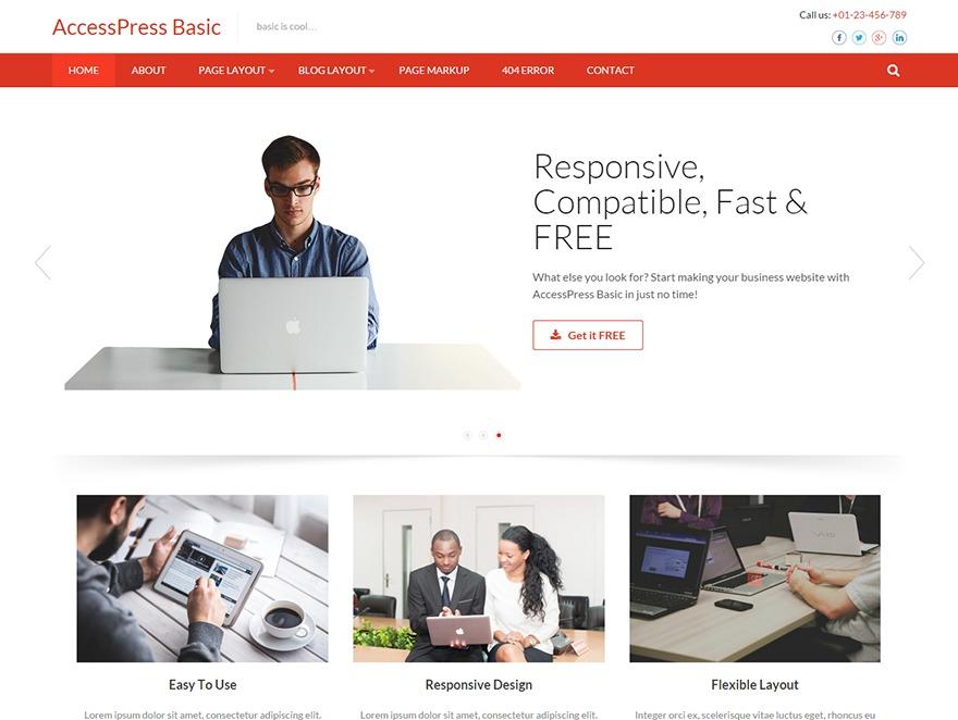 Accesspress Basic Pro WordPress ecommerce theme