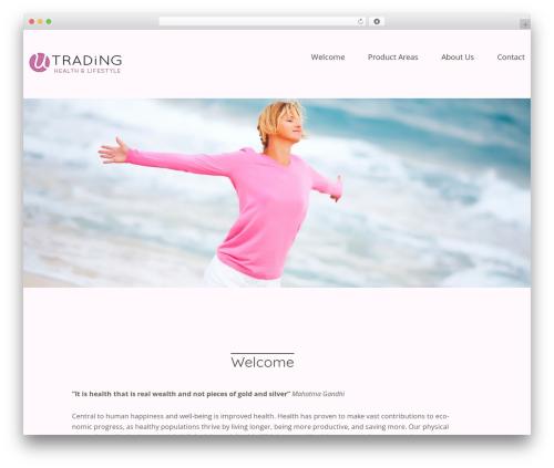 Baylys WordPress theme design - u-trading.de