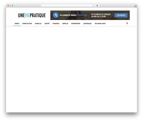 Best WordPress template Newspaper - uneviepratique.fr