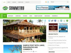 Best WordPress template Symmetry
