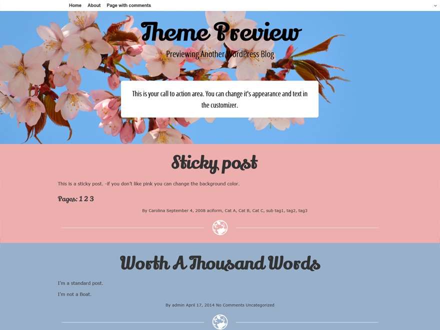 Cherish free WP theme