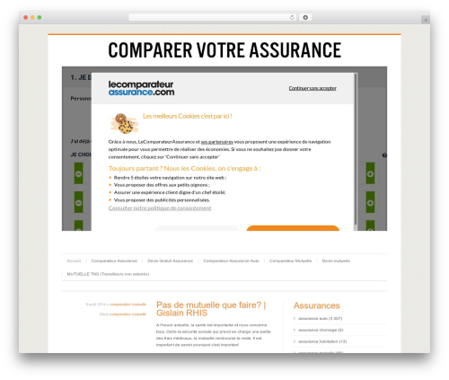 Cleanex best WordPress template - uneassurance.fr