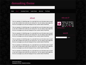Damasking WordPress theme