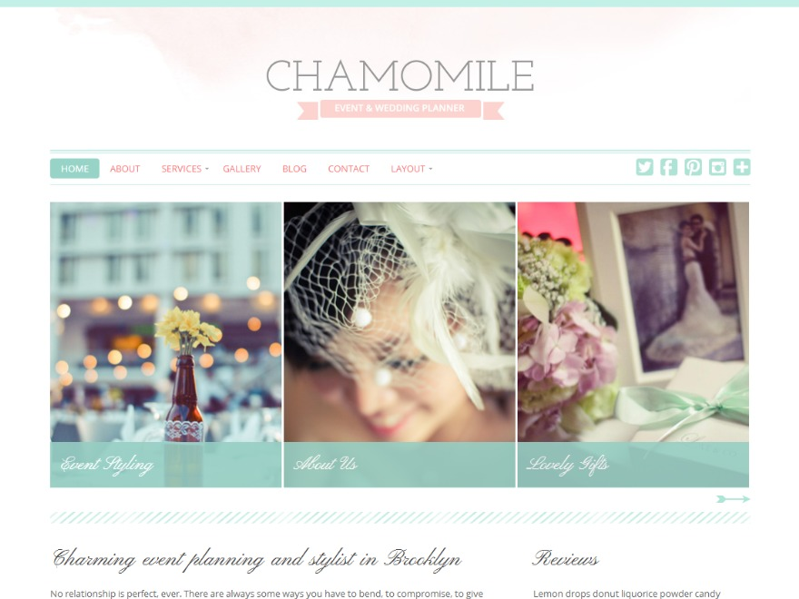 Danielle WordPress blog template