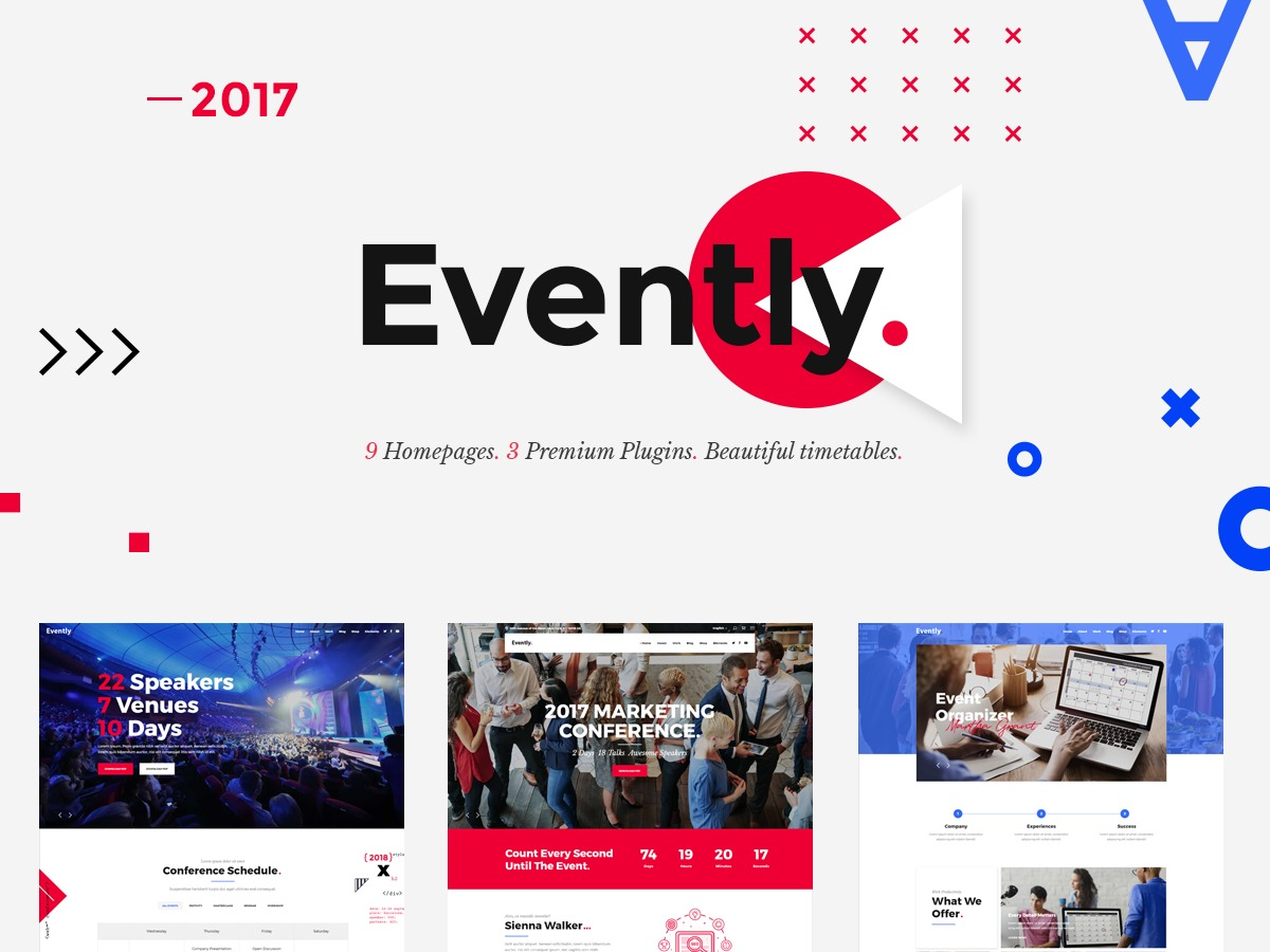 Evently WP template
