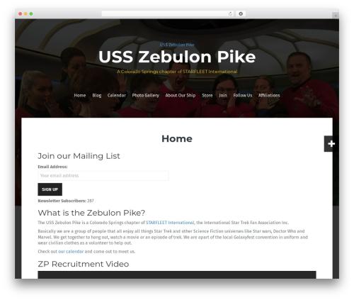 Free WordPress CalPress Calendar plugin - usszebulonpike.org