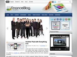 FinanceBlog WordPress blog template