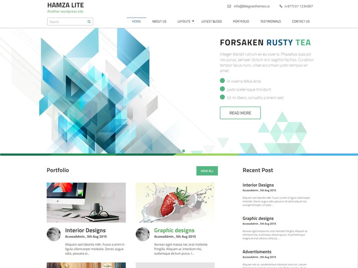 Hamza Lite WordPress theme free download