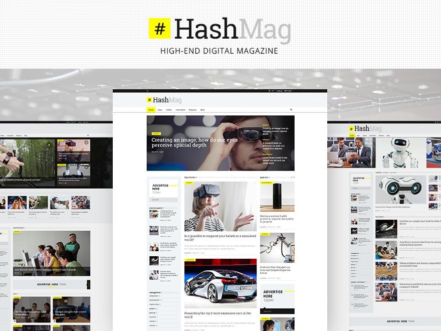 HashMag WordPress news template