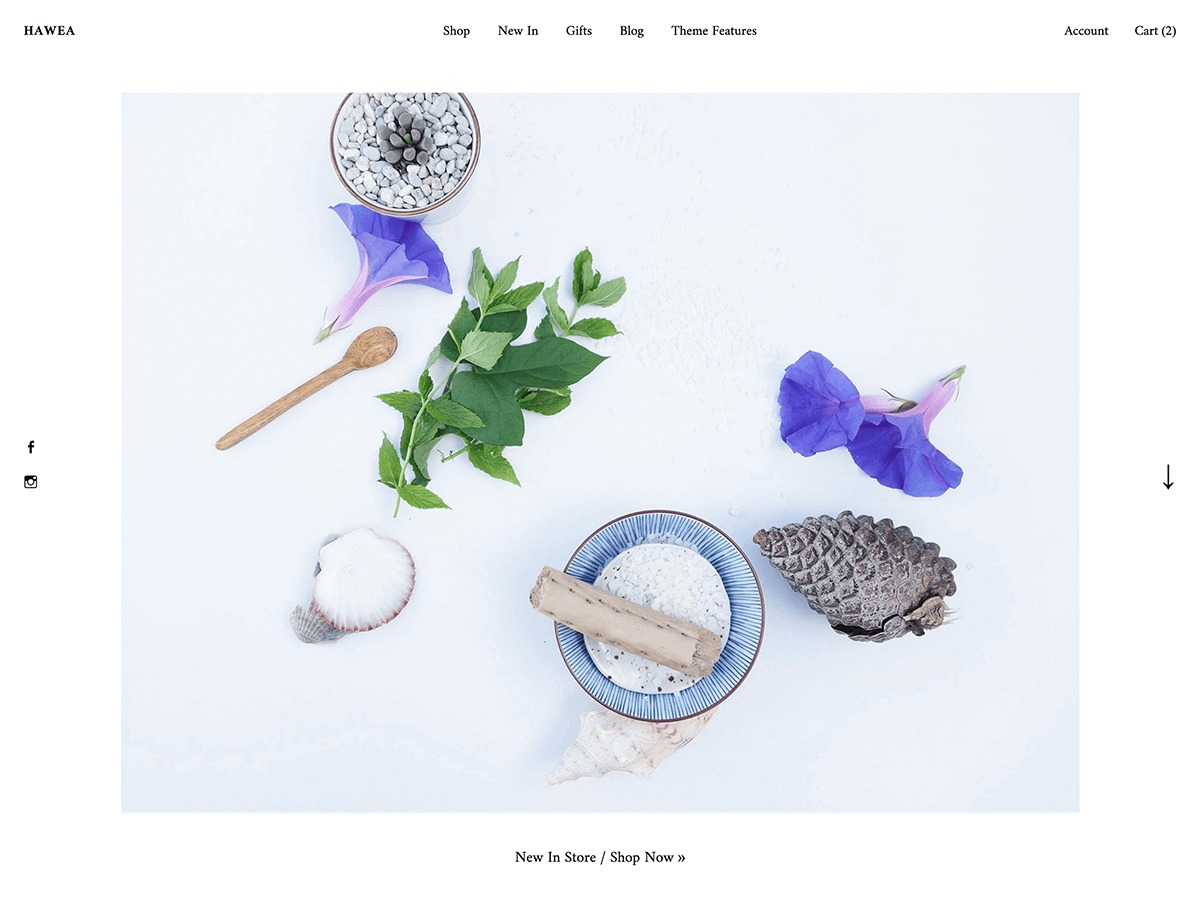 Hawea WordPress shop theme