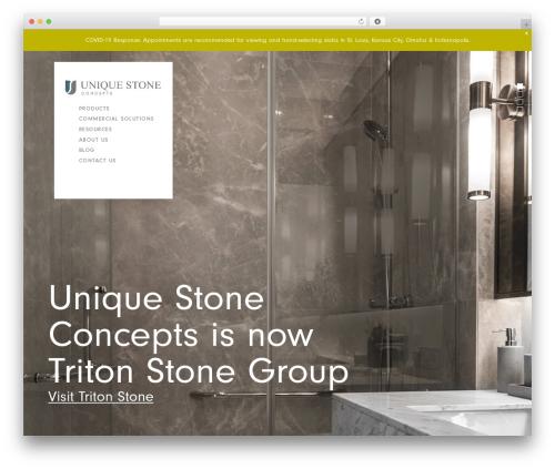 Hudson WordPress theme design - uscgranite.com