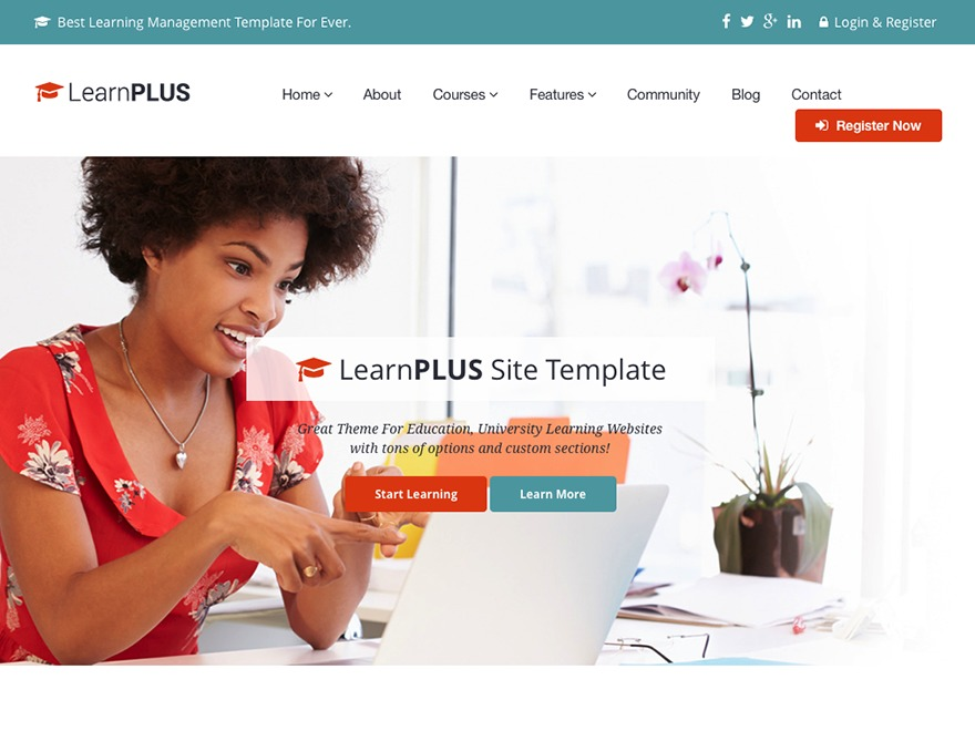 LearnPlus WordPress theme