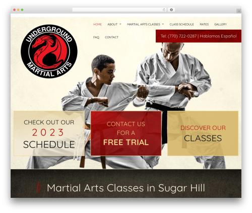 Martial Arts V8 theme WordPress - ukamartialarts.com