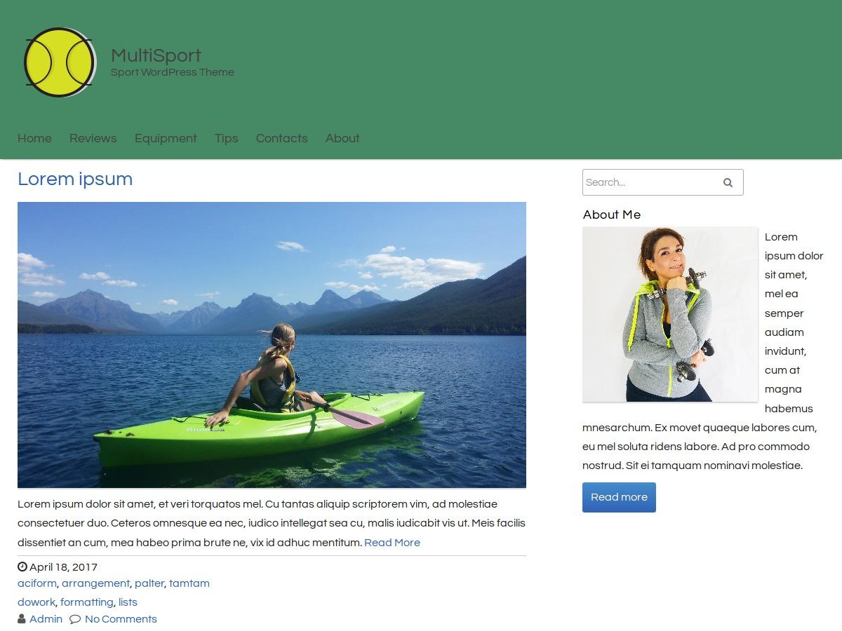 MultiSport newspaper WordPress theme