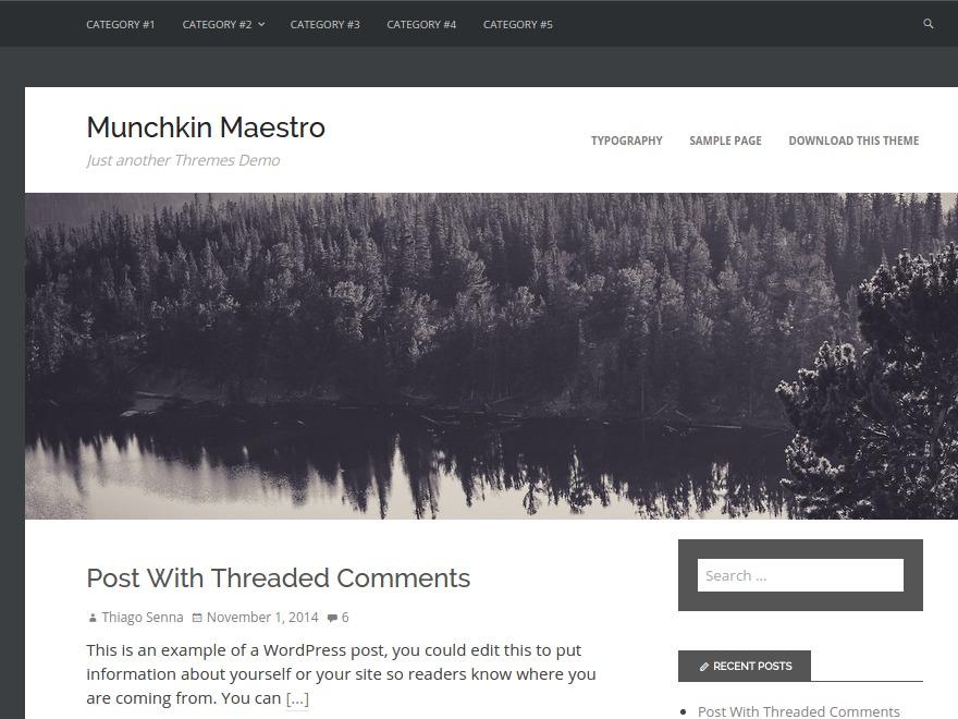 Munchkin Maestro WordPress page template