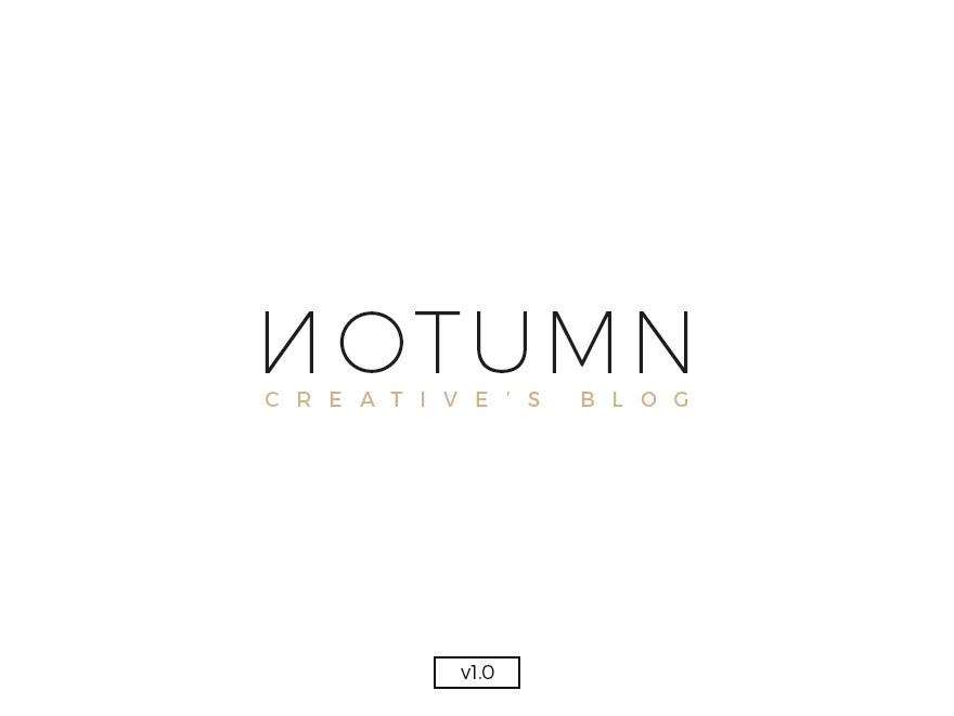 Notumn WordPress blog theme