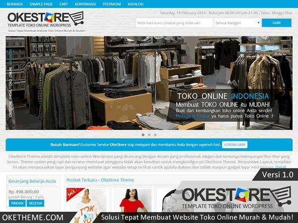 OkeStore (Personal) best WooCommerce theme