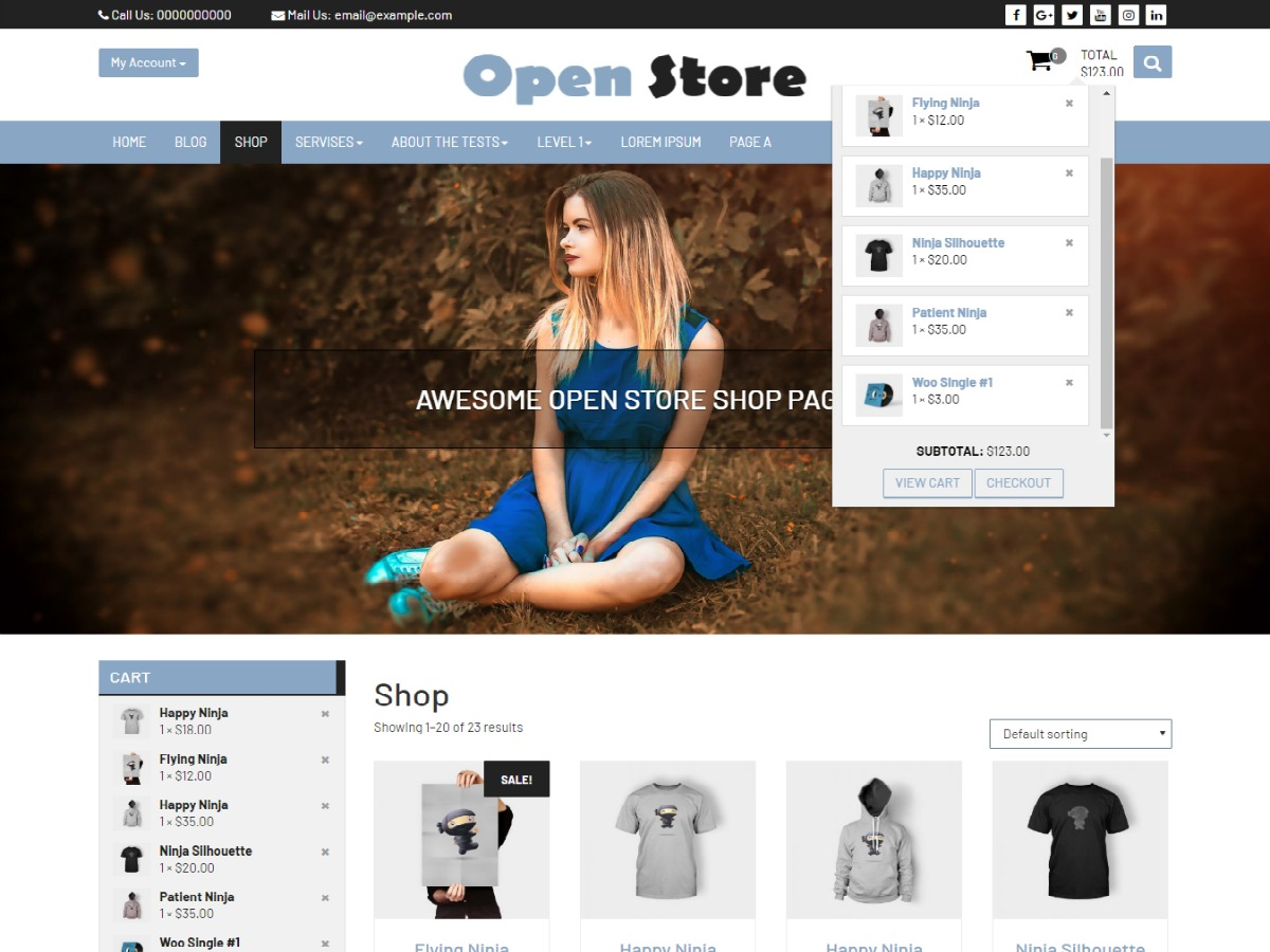 Open Store WordPress store theme