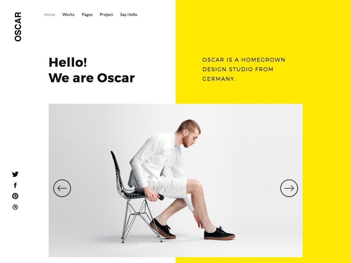 Oscar WordPress theme design