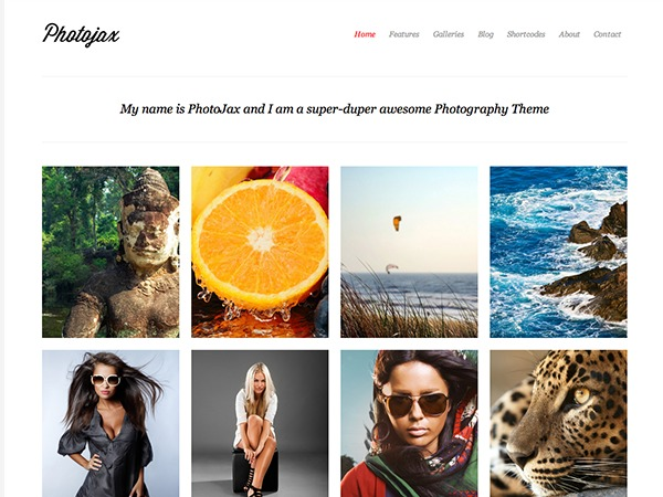 Photojax WordPress template