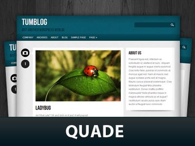 Quade WordPress blog template