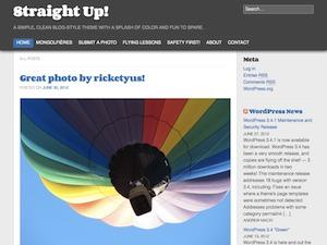 Straight Up WordPress blog theme