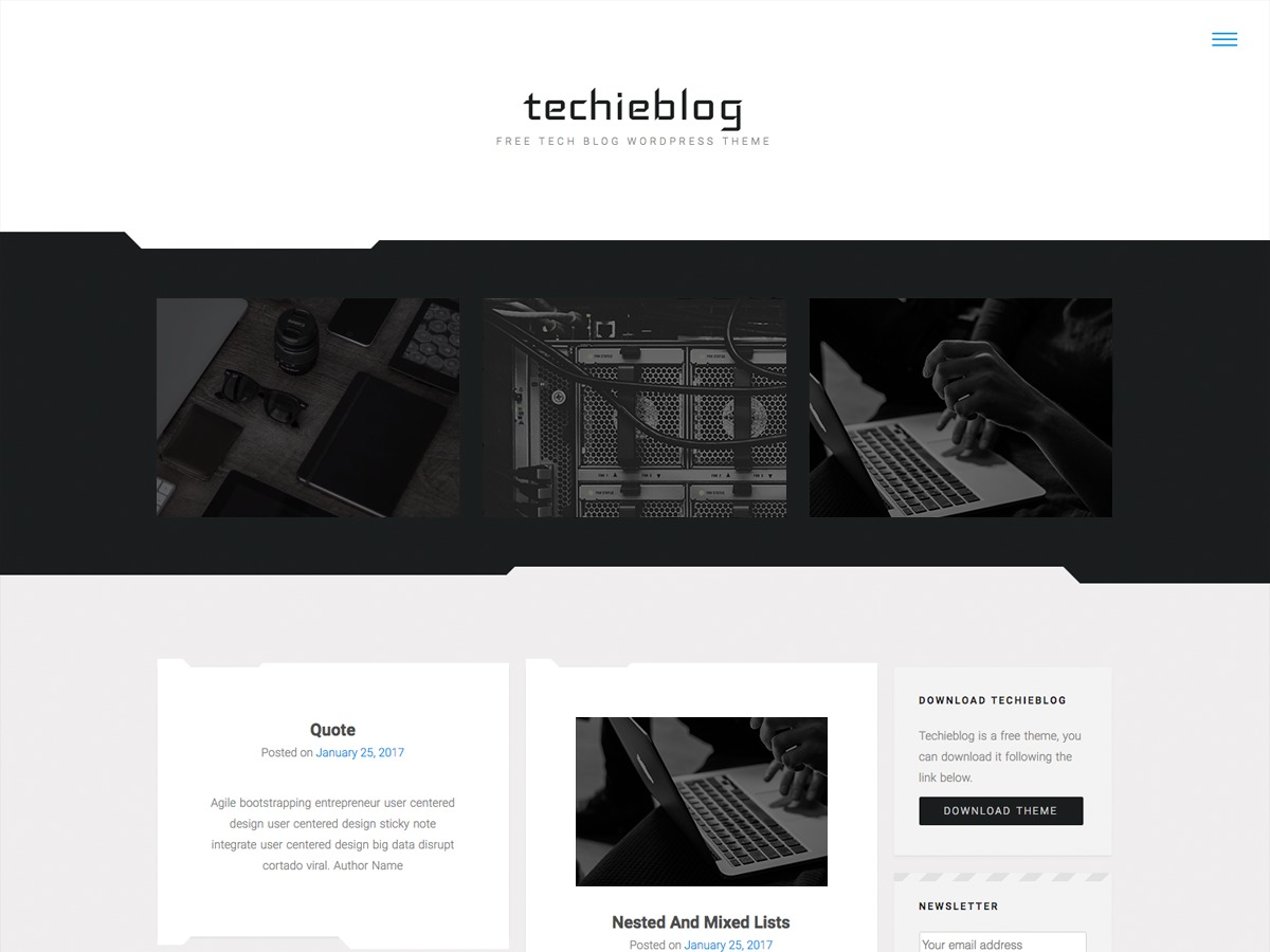 Techieblog WordPress theme download