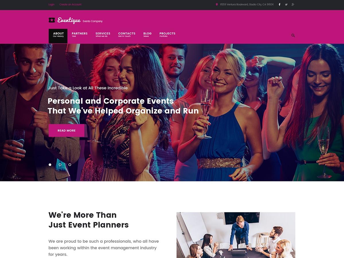 Template WordPress Eventique