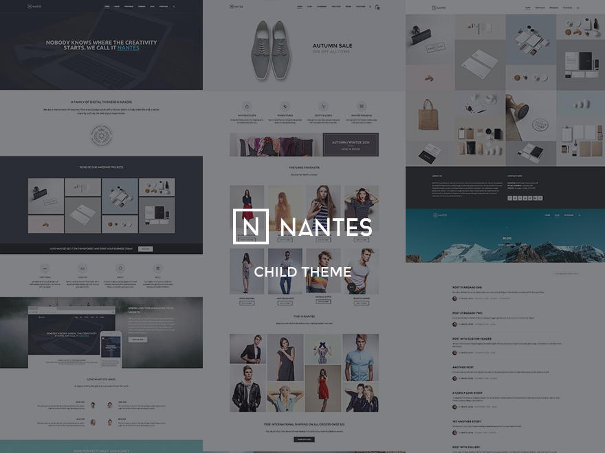 Template WordPress Nantes Child