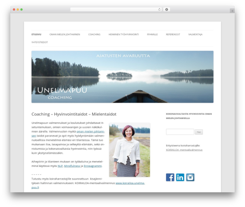 Theme WordPress Twenty Twelve - unelmapuu.fi