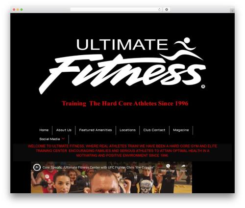 Total free WordPress theme - ultimatefitnesscenterchulavista.com