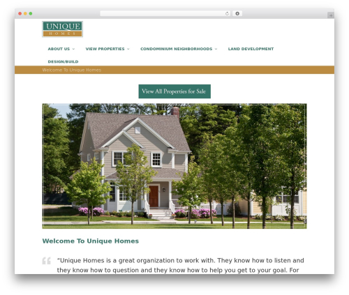 Total free WP theme - uniquenewhomes.com