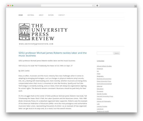 Twenty Twelve free website theme - universitypressreview.com