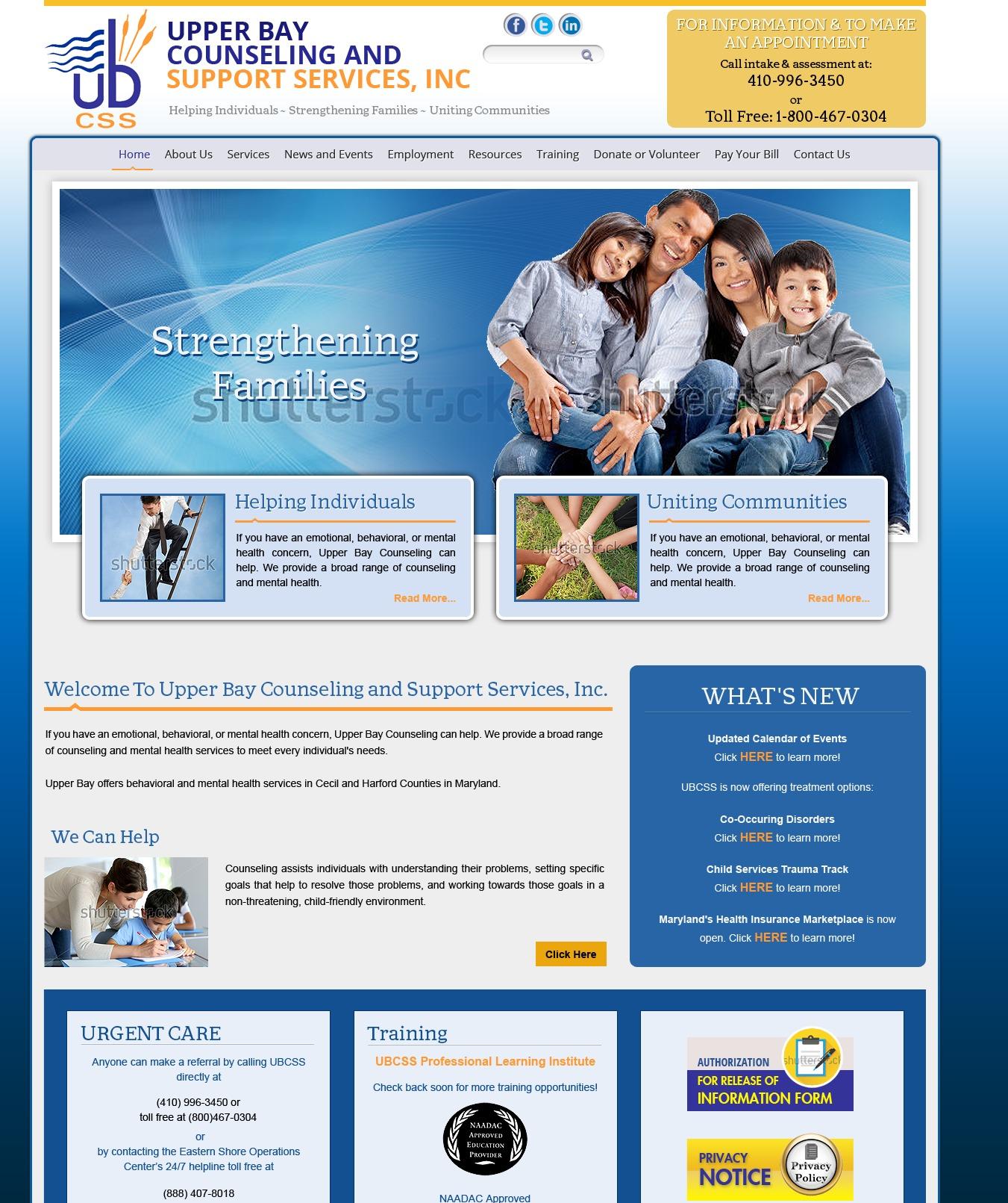 Upper Bay Counseling premium WordPress theme