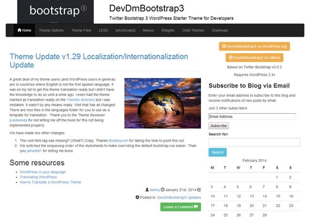 Uustuus 2014 - DEVDM WordPress theme
